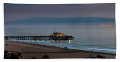 Golden Pier Beach Towel
