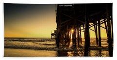 Golden Pier  Beach Towel
