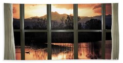 Golden Ponds Bay Window View Beach Towel