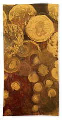 Golden Rain Abstract Beach Towel