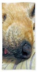 Golden Retriever Dog Little Tongue Beach Sheet