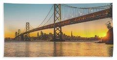 Golden San Francisco Beach Towel by JR Photography