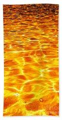 Golden Shadows Beach Towel by Ramona Matei