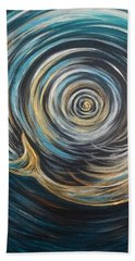 Golden Sirena Mermaid Spiral Beach Towel