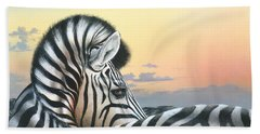 Beach Towel featuring the painting Golden Sky by Mike Brown