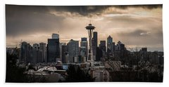 Golden Sky Seattle Beach Towel