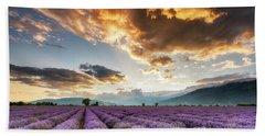 Golden Sky, Violet Earth Beach Sheet