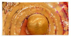 Golden Sphere Beach Towel