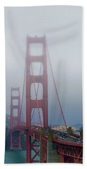 Beach Towel featuring the photograph Golden State Golden Gate  by Joseph Hollingsworth