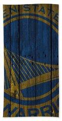Golden State Warriors Wood Fence Beach Towel