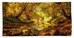 Beach Sheet featuring the photograph Golden Stream by Kristal Kraft