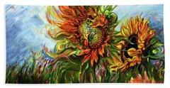Golden Sunflowers - Harsh Malik Beach Sheet