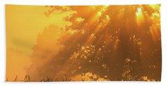 Golden Sunlight Blessings Beach Towel