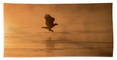 Golden Sunrise And Eagle  2016-3 Beach Towel