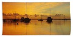 Golden Sunrise At Boreen Point Beach Towel