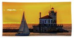 Golden Sunset Beach Towel