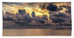 Golden Surf - Point Dume, California Beach Towel