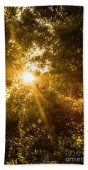 Golden Treetops Beach Towel