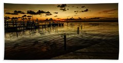 Golden Twilight Beach Towel by Kevin Cable