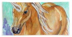 Golden Unicorn Beach Towel