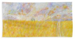 Golden Wheat Field Beach Sheet