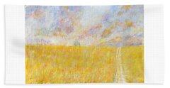 Golden Wheat Field Beach Towel