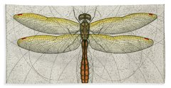 Golden Winged Skimmer Beach Towel
