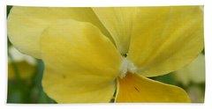 Golden Yellow Flower Beach Towel