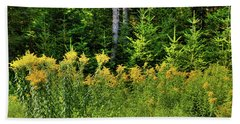 Beach Towel featuring the photograph Goldenrod In The Adirondacks by David Patterson