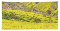 Goldfields And Temblor Hills Beach Sheet by Marc Crumpler