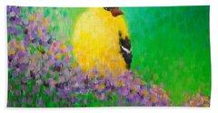 Goldfinch II Beach Towel