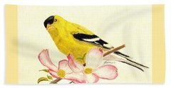 Goldfinch Spring Beach Towel