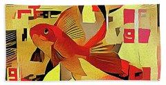 Goldfish #1 Beach Towel