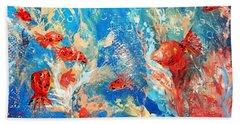 Goldfish Party Beach Sheet