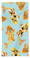 Goldfish Beach Towel by Uma Gokhale