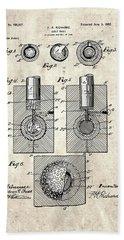 Golf Ball Patent Drawing Vintage 2 Beach Sheet