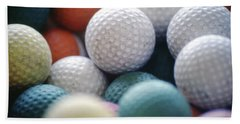 Golf Balls Beach Towel