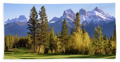 Golf Course In The Mountains Beach Sheet by Keith Boone