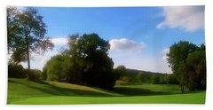 Golf Course Landscape Beach Towel