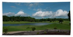 Golf Course The Back 9 Beach Towel by Chris Flees