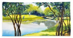 Golf Haven Beach Towel by Betty M M Wong
