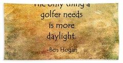 Golf Quote Beach Sheet