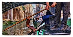 Beach Towel featuring the photograph Gondola 2 by Allen Beatty