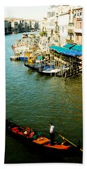 Gondola In Venice Italy Beach Towel
