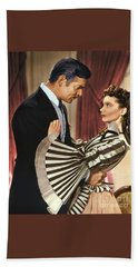 Gone With The Wind - 1939 - Completely Retouched In Color Beach Towel