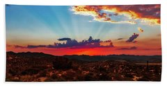 Beach Towel featuring the photograph Good Evening Arizona by Rick Furmanek