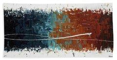 Good Feeling - Abstract Art Beach Sheet