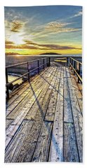 Good Harbor Beach Footbridge Shadows Beach Towel