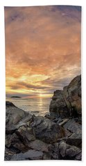 Good Harbor, Rock View Vertical Beach Towel
