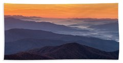 Good Morning Clingmans Dome In The Smokies Beach Towel